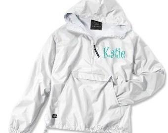 Monogrammed Ladies Windbreaker, Monogram Windbreaker, Lightweight Jacket, Bridesmaid Jacket, Personalized Jacket,Lined Jacket,Lined Pullover