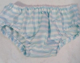 Striped Diaper Cover, 6-12 months / Baby Shimapan / Striped Panties