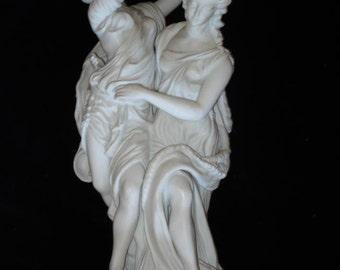 Neo Classical Parian Porcelain Tambourine Dancers