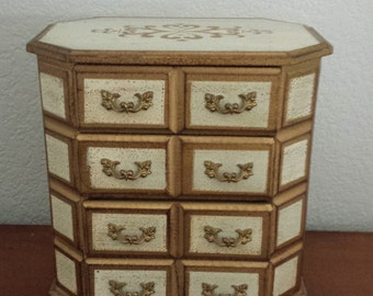 Gold Wooden Jewelry Box