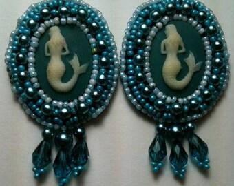 Mermaid Cameo Earrings