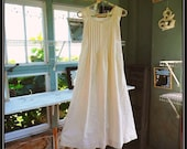 Free Shipping in US-XS-XXL-,Nilla Bean,Women's Sleeveless Cotton Nightgown, Vintage Percale,  PinTucked, Waltz Length, Vintage Inspired