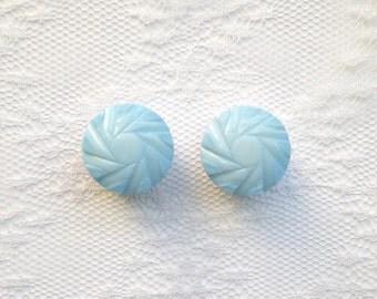 """Light Blue Design Vintage Pair Plugs Gauges Size: 5/8"""" (16mm)"""