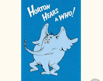 "149100232 - Dr. Seuss Horton Hears a Who 24"" Fabric Panel"
