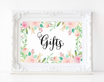 """Instant Download - Spring Shower Gifts Print - 5""""x7"""""""