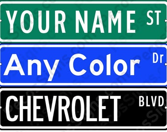 "Personalized Aluminum Street Sign - Any Name - 18"" wide x 4"" high Made in USA"