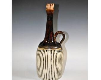 Handmade Ceramic Bottle, Vase, Wine Decanter, Wine Bottle