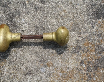 Pair of Oval Egg Shaped Door Knobs