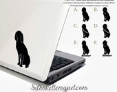 Coonhound Decal Vinyl Sticker - Silhouette My Pet Design:DOG-BTC02
