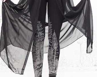 BLACK Forest Leggings ,Womens Legging - redwood forest legging, yoga pants, womens tights, bottoms, pants, carousel ink
