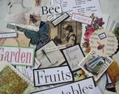Garden/Nature Paper Scrap Images for Assemblage/Mixed Media/Art/Scrapbooking Pack 4