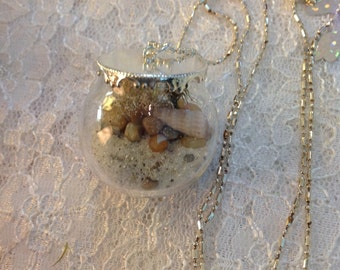 Beach Terrarium Locket Necklace