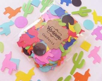 200 Fiesta Confetti ~ Quinceanera ~ Birthday ~ Bachelorette Party ~ Baby Shower ~ Donkeys, Cacti, Suns & Squares