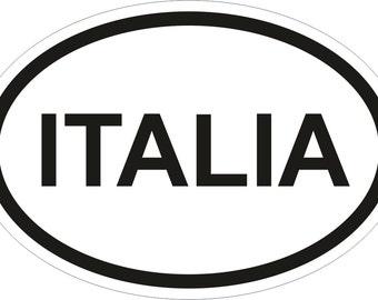 ITALIA Country Code Oval Sticker for Bumper Laptop Book Fridge Motorcycle Helmet ToolBox Door PC Hard Hat Tool Box Locker Truck