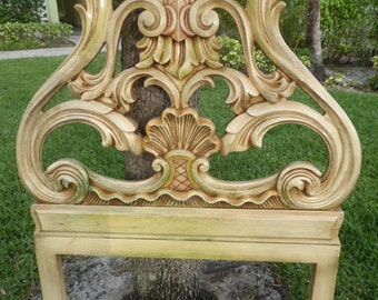 THE GLAM CLAM / Stunning Ornate Rococo Twin Headboard 2 Of 2 Needs Repair / Hollywood Regency