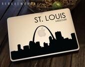 St Louis Skyline Macbook Decal 3 | Macbook Sticker | Laptop Decal | Laptop Sticker | Car Sticker