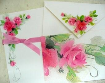 Vintage Flower Shabby Stationary Set