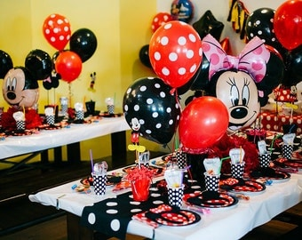 Balloons Polka Dot Mickey Mouse Party Favors 5 Baby Shower Dotted