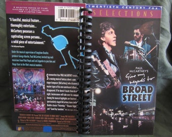 Give My Regards to Broad Street Paul McCartney VHS Tape Box Notebook
