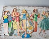 Vintage Paper Doll Lot No. 4 Paper Paper Ephemera Pinup Pin Up Girl