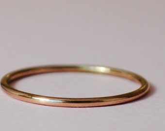 Thin Gold Ring/ Size 4.75/Rose Gold Ring/Thin Gold Band/Pink Gold Filled Ring/Pink Gold/Tiny Gold Ring/Rose Gold Filled Teeny Ring/Thin Ring