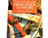 Treasury of Cross-Stitch Samplers Paperback Book by Sharon Perna, Needlewoork Alphabet Sampler, Verse, Family-Record Patterns itsyourcountry
