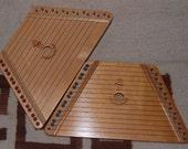 TWO Nepenenoyka Lap Harp Set 2 Harps Cheat Sheet Music Disney Christmas Beginner Songs Hardwood String Instrument Zither