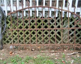 iron gate, mediterranean gate,architectural salvage,deco salvage gate,vintage gate/fence