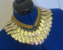 Gold Scalemaille Necklace