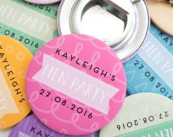 Hen Party Bottle Opener Keyrings - Hen Party Accessories - Hen Do Gifts - Bridal Party Accessories