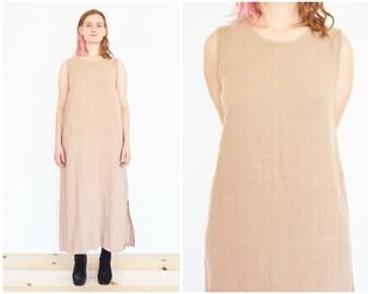 90s Sleeveless Linen Sack Dress