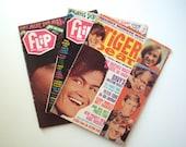 Lot of Vintage Flip, Tiger Beat Magazines, Monkees, 1960's