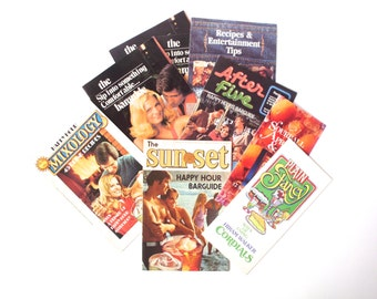 Vintage Lot of Barguides, Happy Hour, Drink Recipes, Liquor Advertisement, 1970's
