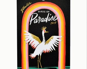 2017 Birds of Paradise Calendar