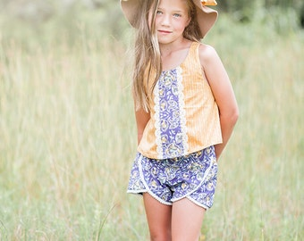NEW: Lilly Shorts PDF Sewing Pattern & Tutorial, All sizes 2-10 Included