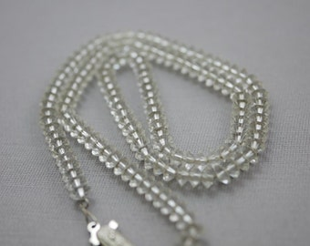 Cut Crystal Vintage Necklace on Chain