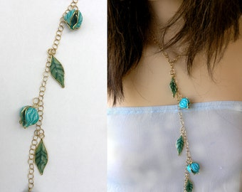 Nature  inspired necklace. Valentines day gift. Nature inspired jewelry. Beautiful necklace. Botanical jewelry.