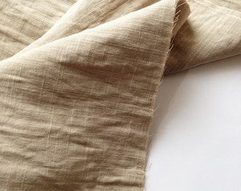 cotton double gauze fabric. soft japanese pure cotton fabric. 102cm (40in) wide. sold by 50cm (19in) long / half yard. cafe latte / beige