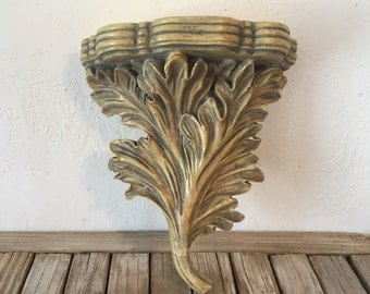 Vintage Neoclassical  Acanhus Leaves Sconce Shelf