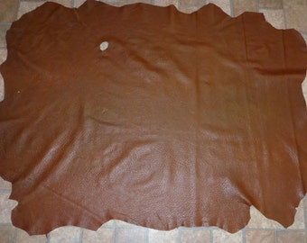 "Leather 41""x32"" Washed Shrunken finished Chocolate Lambskin Hide 10 sq ft 1.75-2 oz / .7-.8 mm #220 PeggySueAlso"