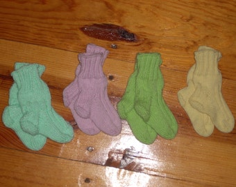 "Pastel Baby Socks - 3 1/2"" Foot - Your Choice"