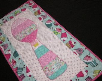 Quilted Dessert Spoons Wall Hanging #3