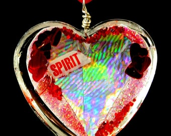 "Heart Shaped Epoxy Resin Pendant - ""Heart Of Spirit"""
