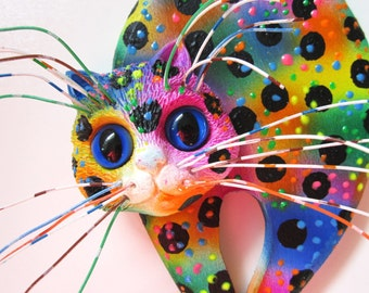 Whimsical cat  wall decor
