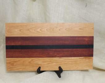 Cherry, Rosewood and Wenge Hardwood Cutting Board or Carving Board
