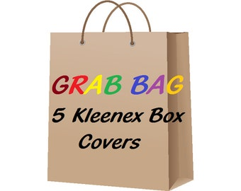 Grab Bag 5 Tissue Box Covers 5 Kleenex Box Holder 5 Boutique Style Tissue Box Holder 5 Kleenex Box Covers