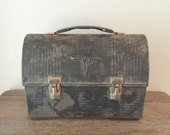 Vintage Thermos metal lunchbox rusty vintage salvage lunch box