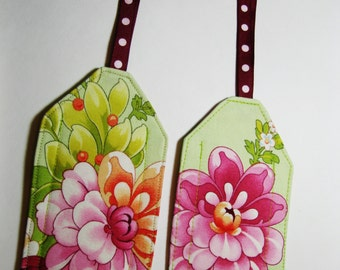 Luggage ID Tags - Tropical Flowers