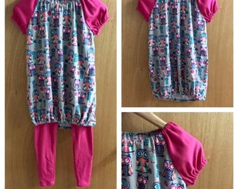Jersey Knit Top and and Leggings, child size 10