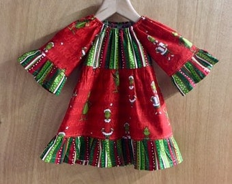 Grinch Christmas Dress, Infant size 9 months